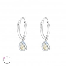 Drop with Swarovski® crystals - 925 Sterling Silver Swarovski Silver Earrings A4S32859