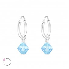 Xilion Bead with Swarovski® crystals - 925 Sterling Silver Swarovski Silver Earrings A4S32860