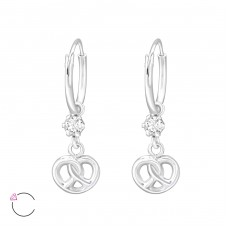 Infinity Knot with Swarovski® crystals - 925 Sterling Silver Swarovski Silver Earrings A4S32865