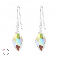Twisted - 925 Sterling Silver Swarovski Silver Earrings A4S37971