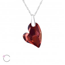 Heart - 925 Sterling Silver Swarovski Silver Necklaces A4S27738