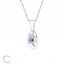 Teardrop - 925 Sterling Silver Swarovski Silver Necklaces A4S27741