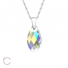 Teardrop - 925 Sterling Silver Swarovski Silver Necklaces A4S27742