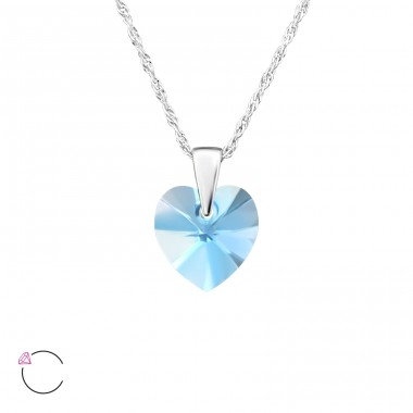 Heart - 925 Sterling Silver Swarovski Silver Necklaces A4S27743