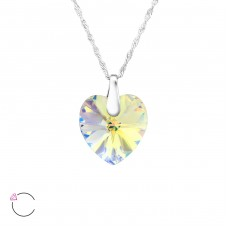 Heart - 925 Sterling Silver Swarovski Silver Necklaces A4S27744
