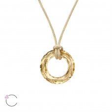 Ring with Swarovski® crystals - 925 Sterling Silver + Nylon Cord Swarovski Silver Necklaces A4S27961