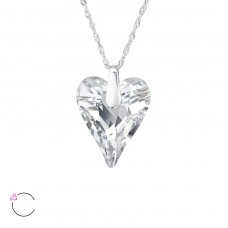 Wild Heart - 925 Sterling Silver Swarovski Silver Necklaces A4S29492