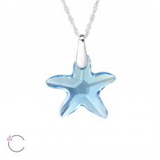Starfish - 925 Sterling Silver Swarovski Silver Necklaces A4S29495