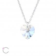 Heart - 925 Sterling Silver Swarovski Silver Necklaces A4S30864