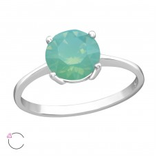 Solitaire - 925 Sterling Silver Swarovski Rings A4S37822