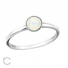 Single Stone - 925 Sterling Silver Rings with Zirconia stones A4S37977